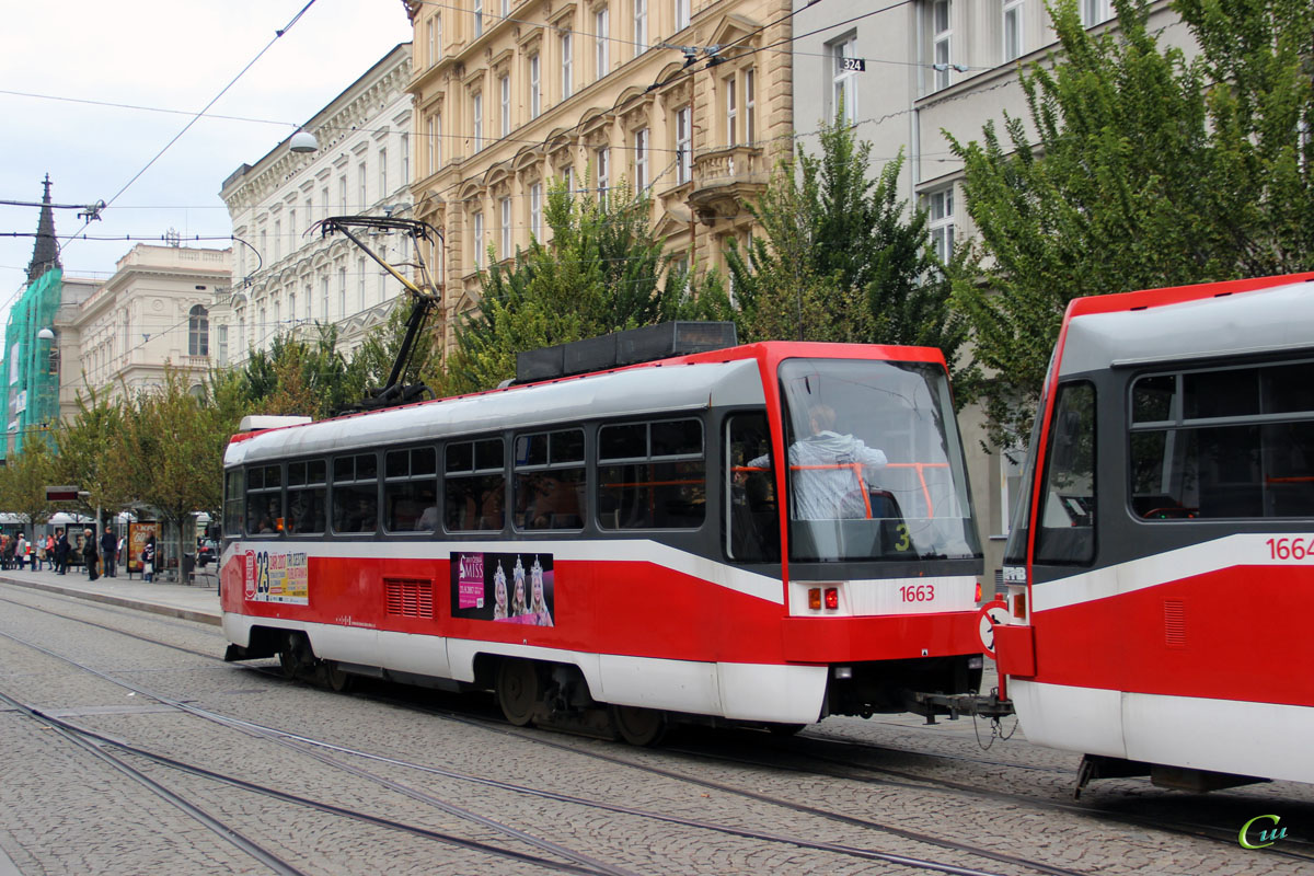 Брно. Tatra T3R №1663