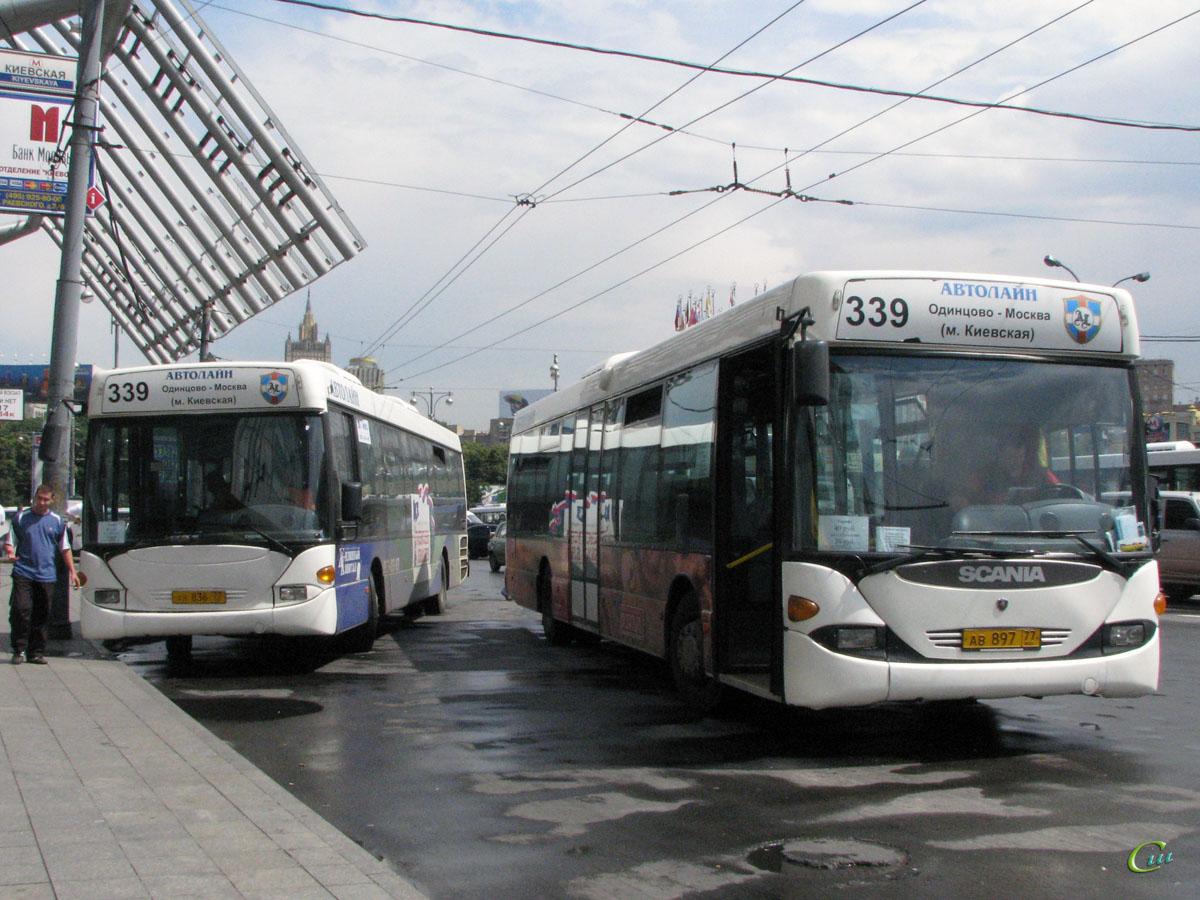 Москва. Scania OmniLink CL94UB ав836, Scania OmniLink CL94UB ав897
