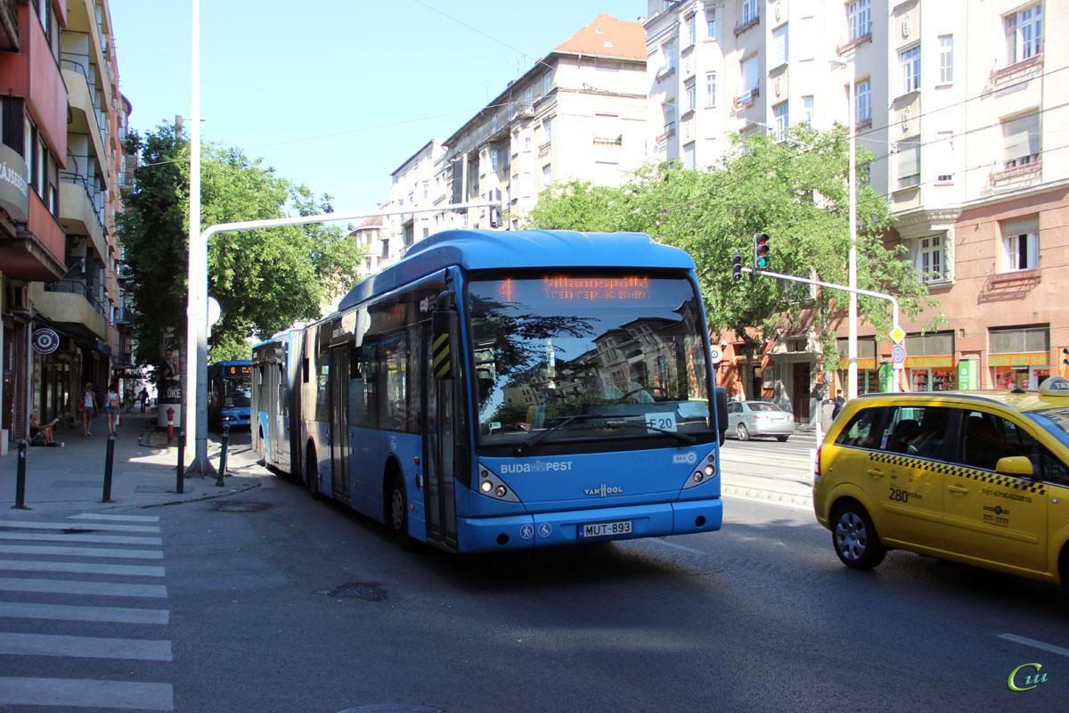Будапешт. Van Hool New AG300 MUT-893