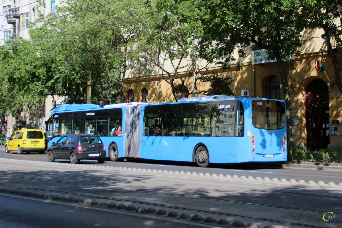 Будапешт. Van Hool New AG300 MUT-891