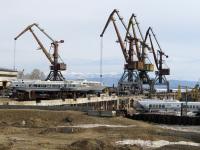 Комсомольск-на-Амуре. Теплоходы на подводных крыльях Восход-15, Метеор-122 и Метеор-187
