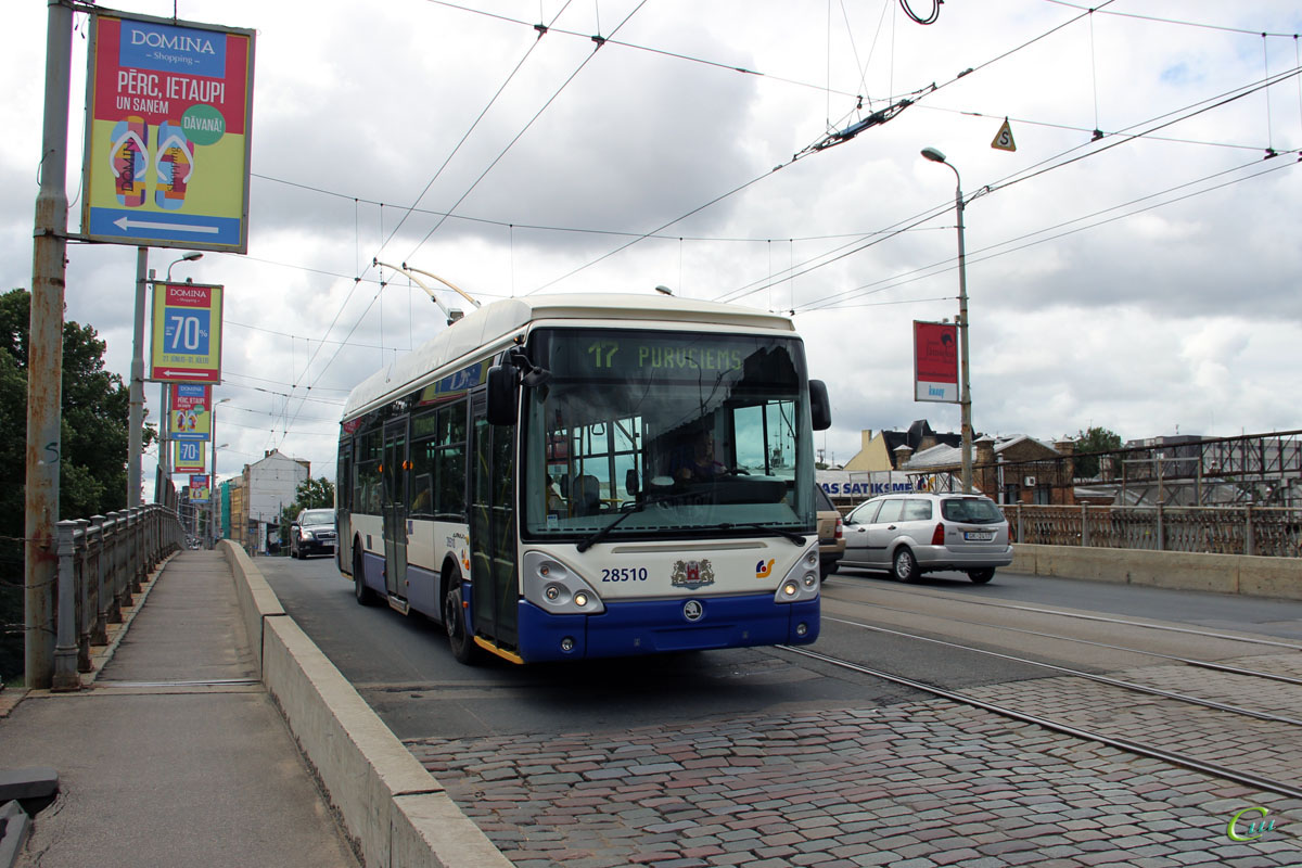 Рига. Škoda 24Tr Irisbus №28510