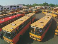 Тамбов. Автобусы на территории бывшей автоколонны (сейчас снесена в пользу торговых центров)