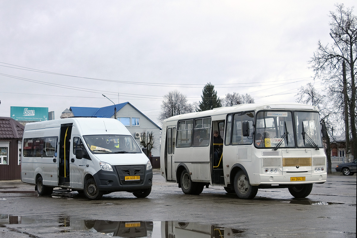 Суземка. ГАЗель Next ам633, ПАЗ-32054 ан264