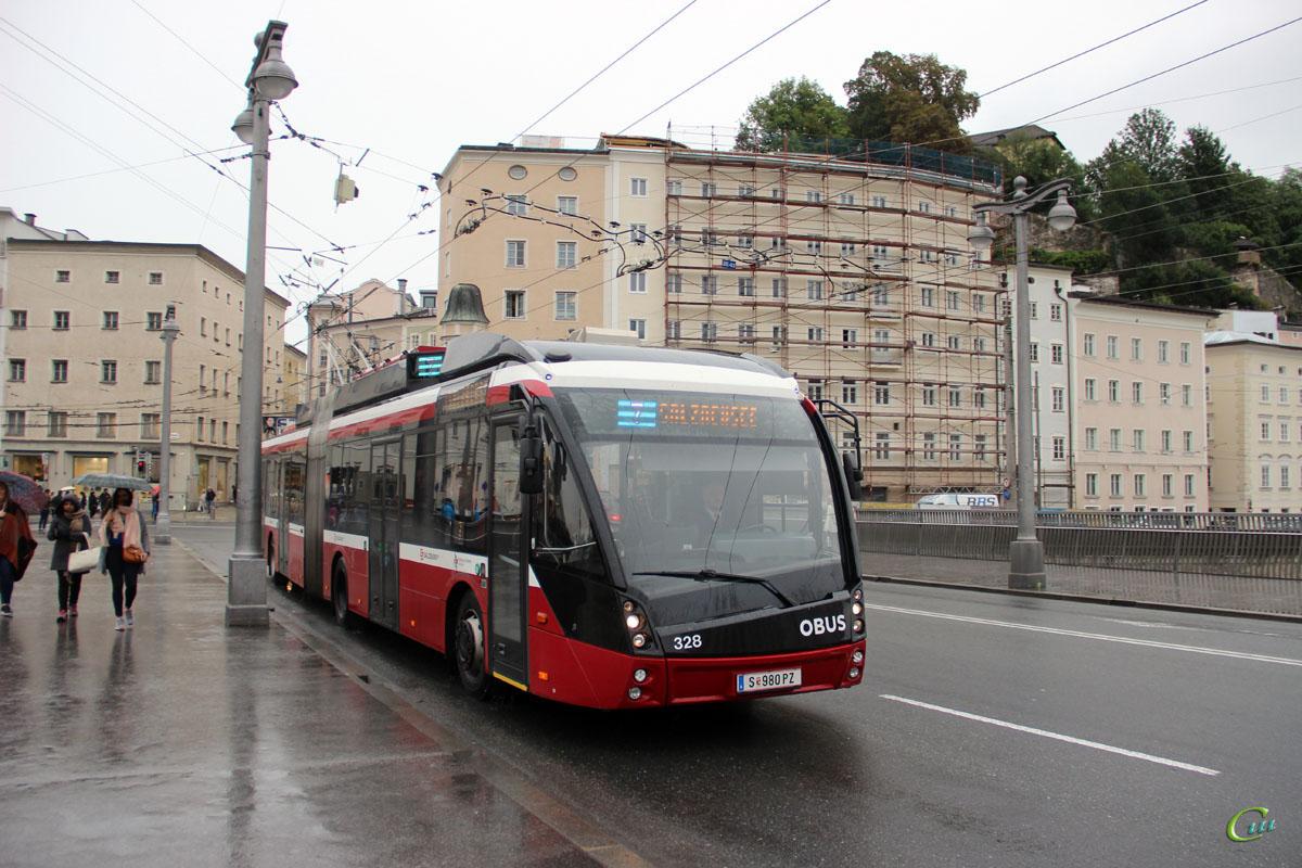 Зальцбург. Solaris Trollino 18 AC MetroStyle №328