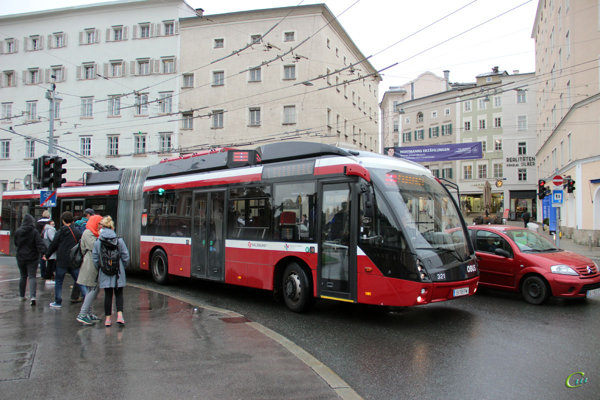 Зальцбург. Solaris Trollino 18 AC MetroStyle №321