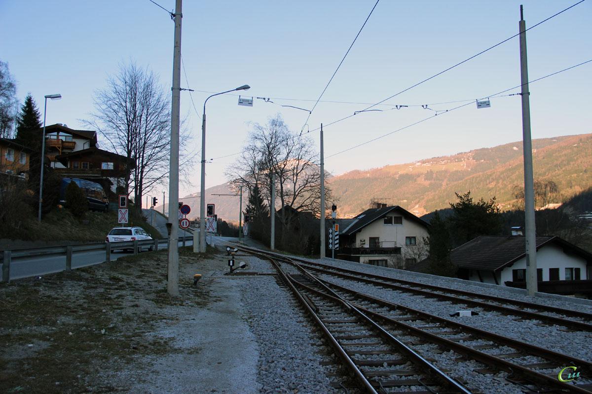Инсбрук. Bahnhof Fulpmes Stubaitalbahn