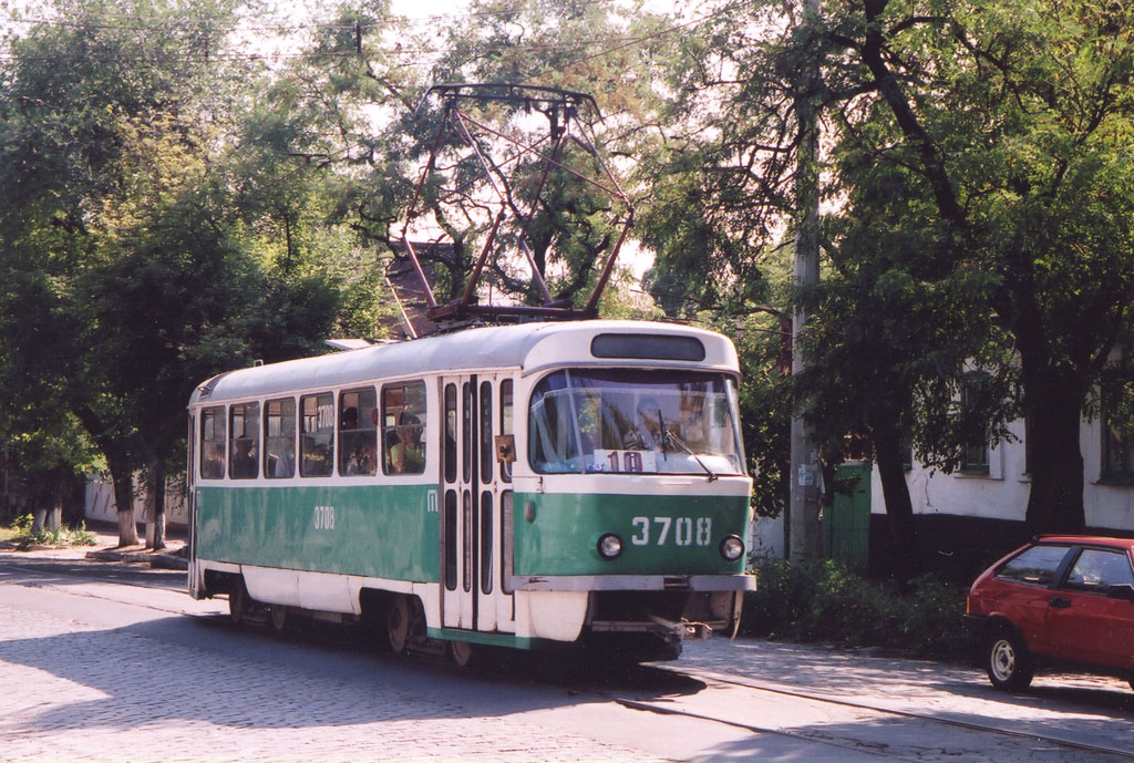 Донецк. Tatra T3 (двухдверная) №3708