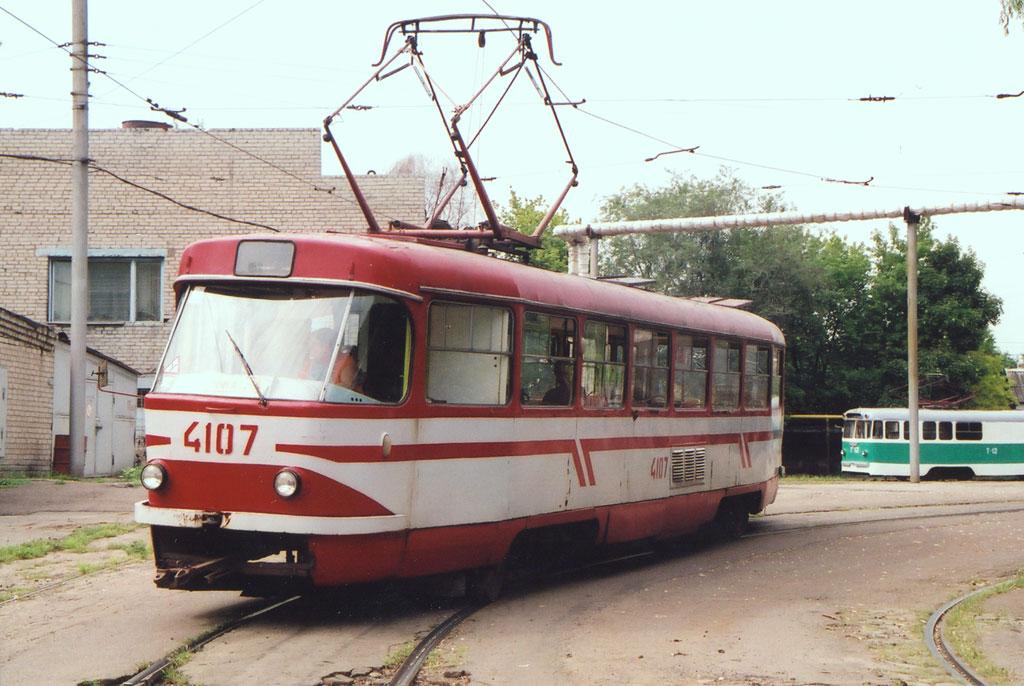 Донецк. КТВ-55 №Т-12, Tatra T3SU №4107
