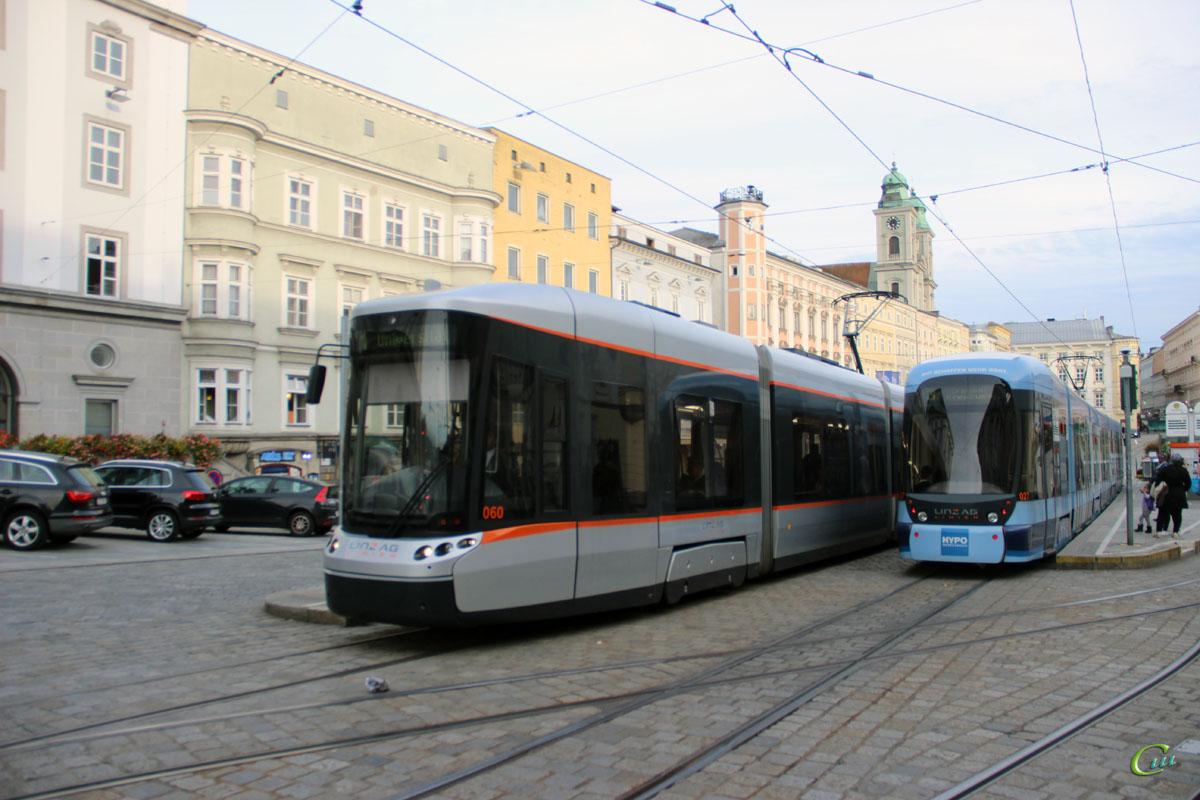Линц. Bombardier Cityrunner №027, Bombardier Flexity Outlook №060