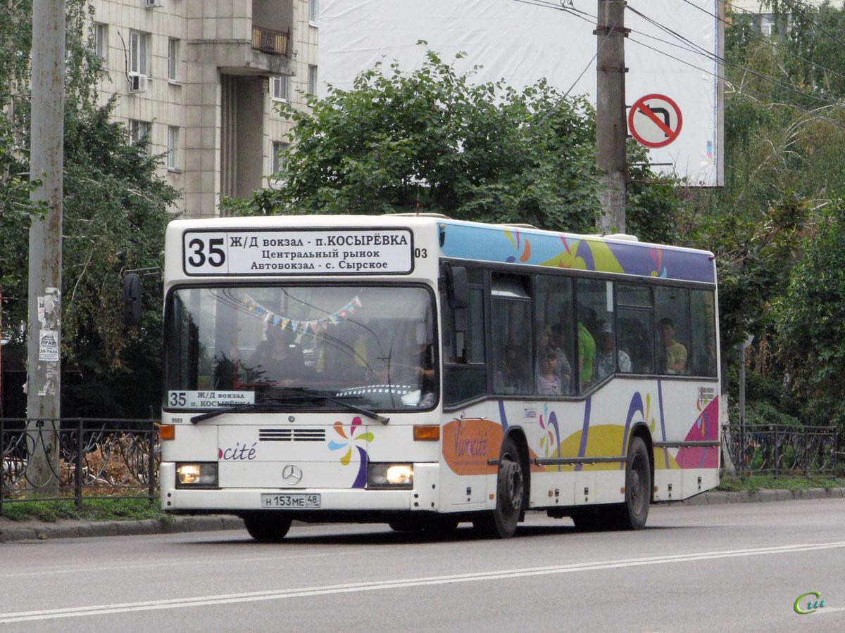Липецк. Mercedes-Benz O405NK н153ме
