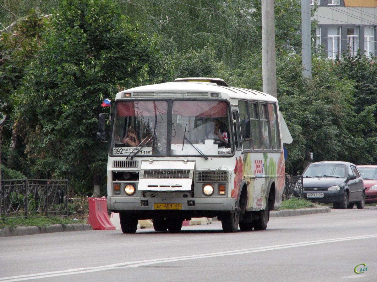 Липецк. ПАЗ-32054 ас451
