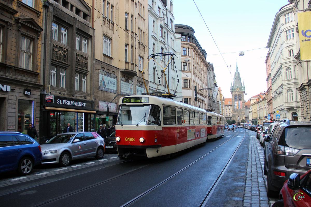 Прага. Tatra T3R.P №8488