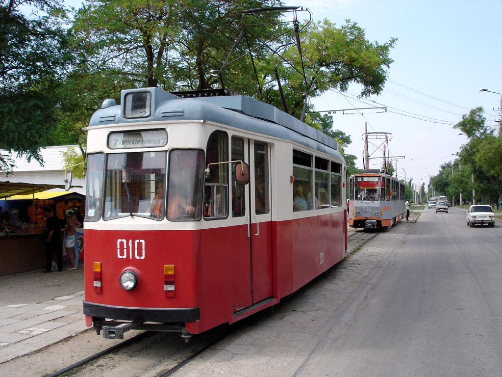 Евпатория. Tatra KT4SU №036, Gotha T57 №010