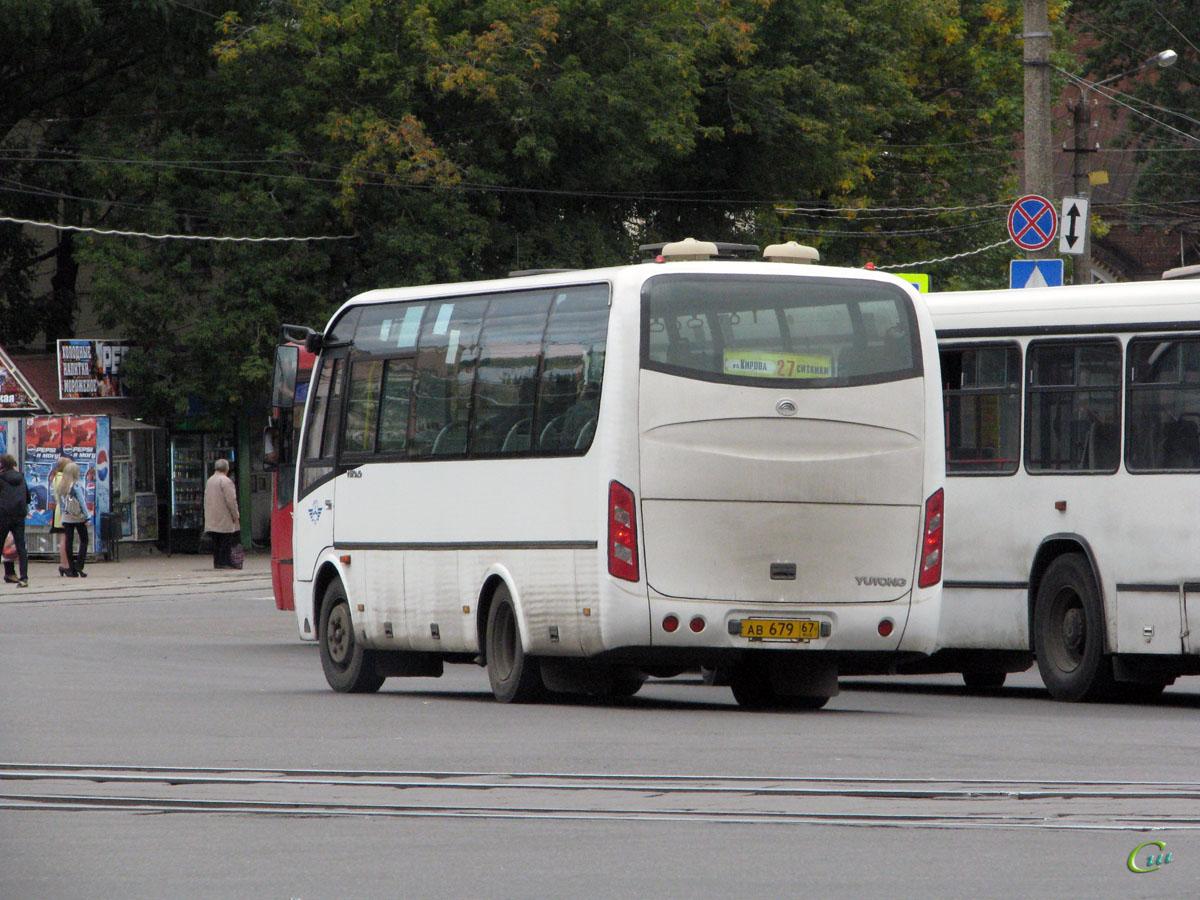 Смоленск. Yutong ZK6737D ав679