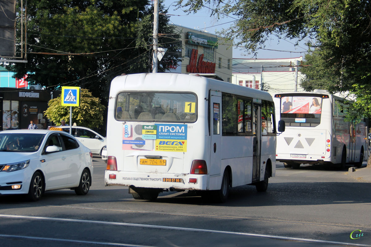 Таганрог. Hyundai County LWB ам704