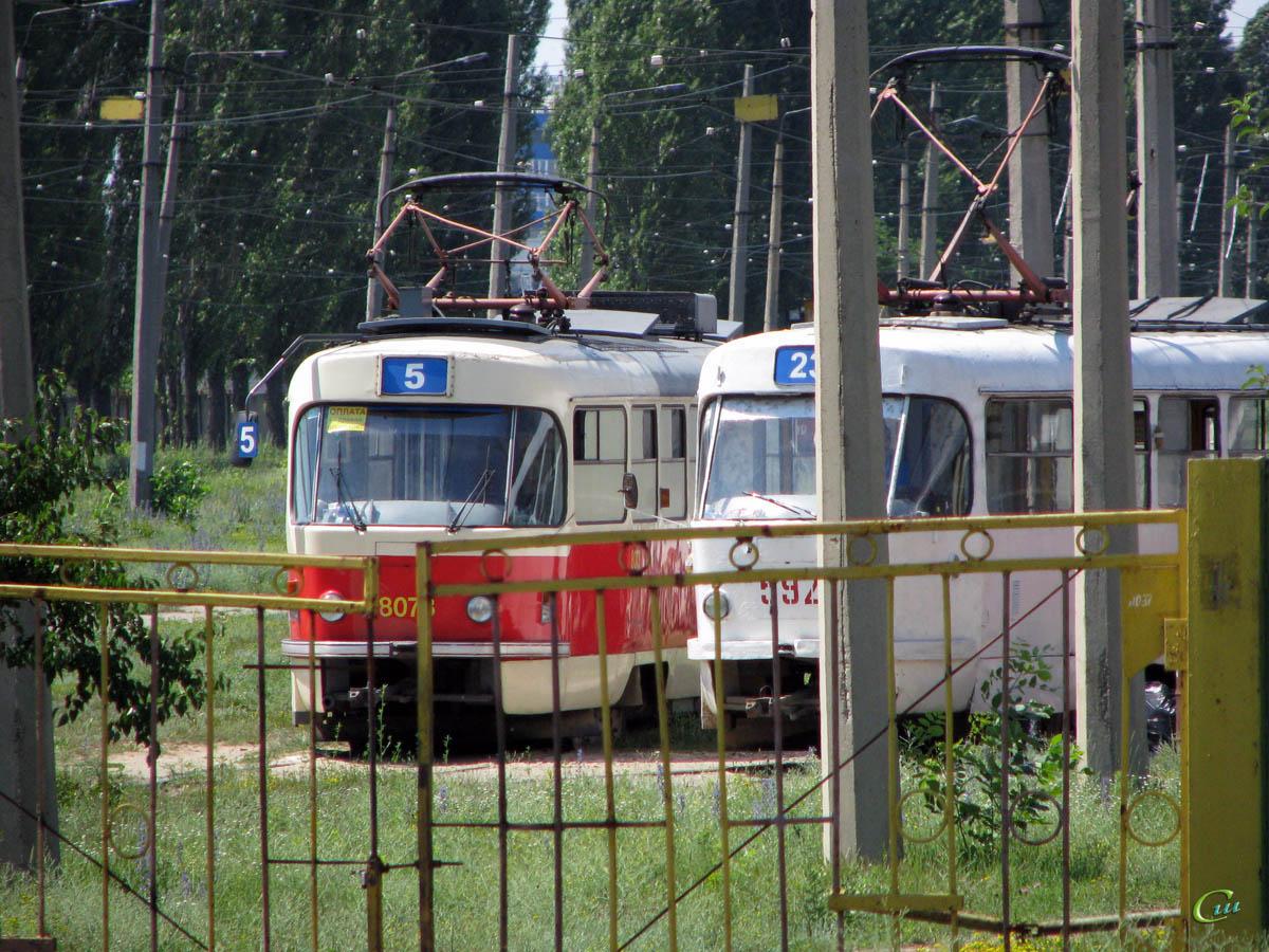 Харьков. Tatra T3M №8073, Tatra T3SU №592