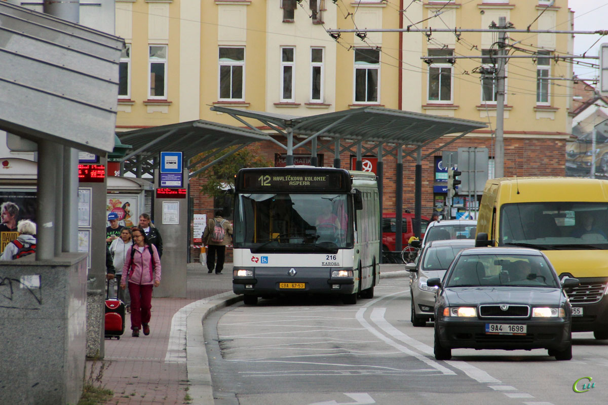 Ческе-Будеёвице. Renault Agora S/Karosa Citybus 12M CBA 67-53