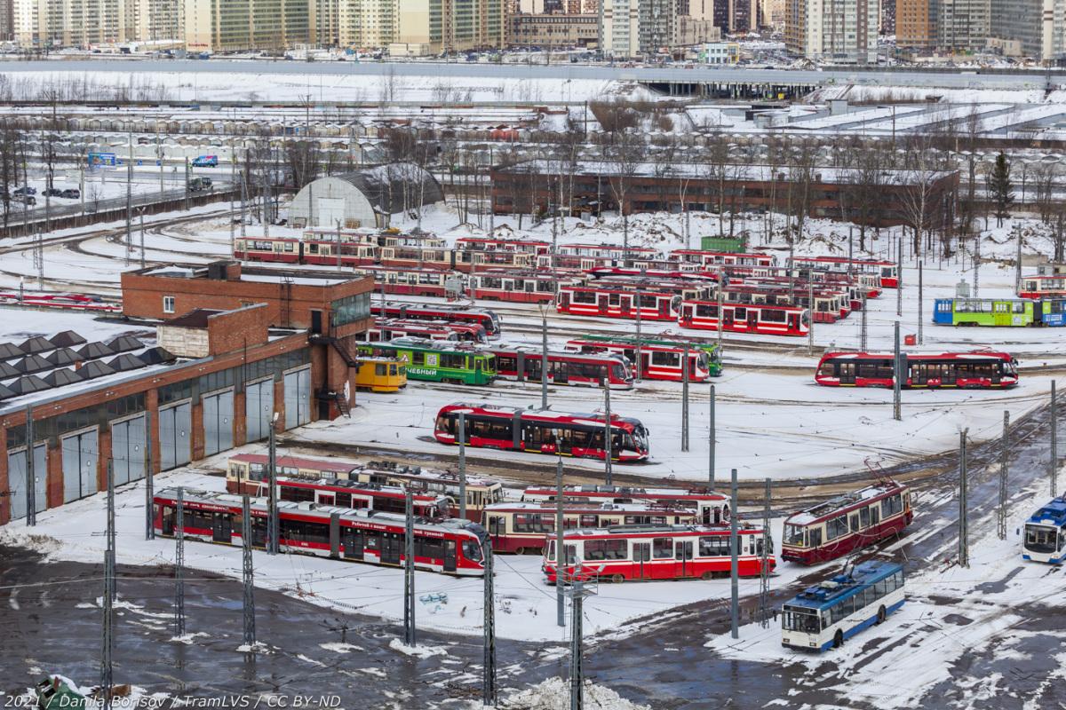 Санкт-Петербург. Совмещённый трамвайно-троллейбусный парк (СТТП)