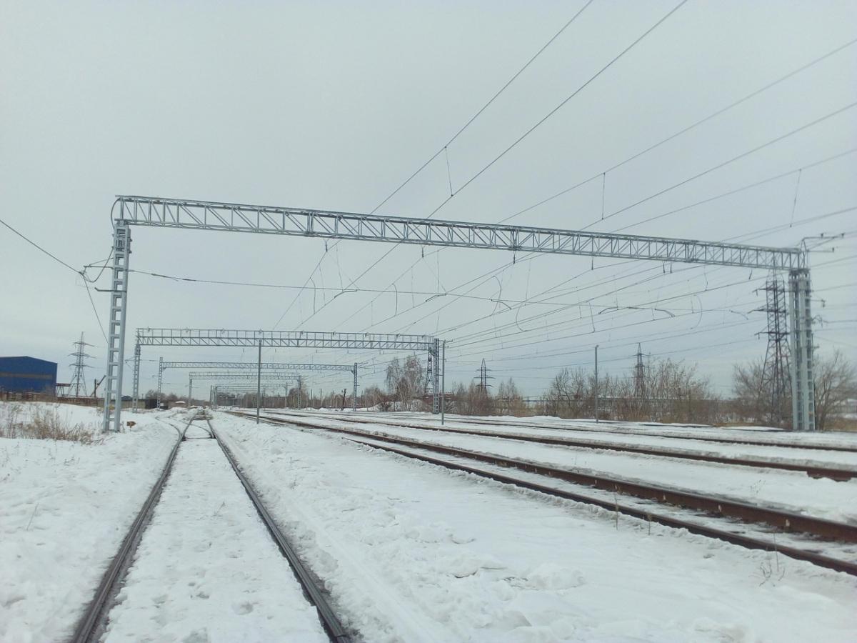 Челябинск. Станция Кирзавод, вид в сторону поста Восточный