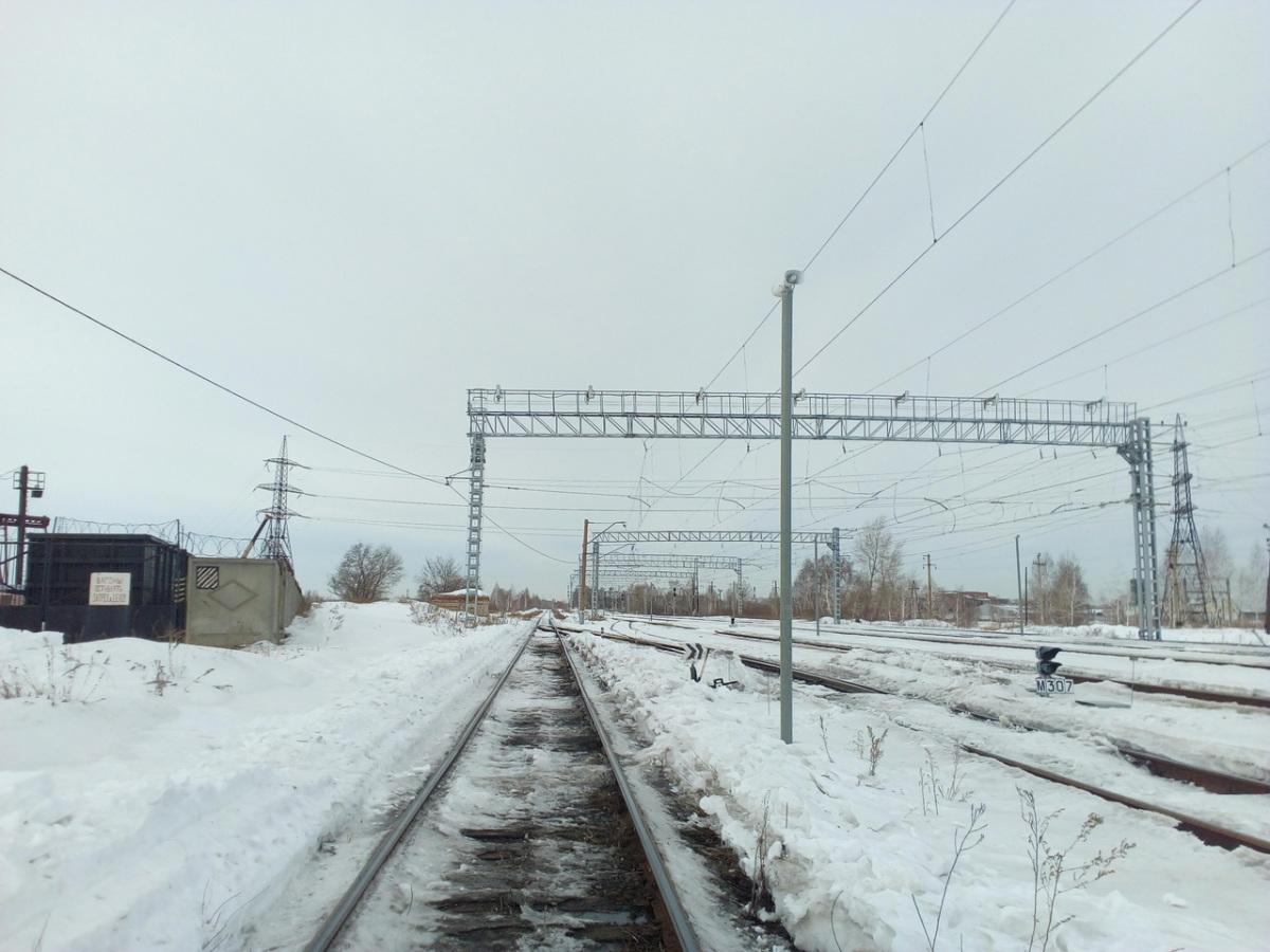 Челябинск. Станция Кирзавод, стрелочные переводы № 28 и № 8