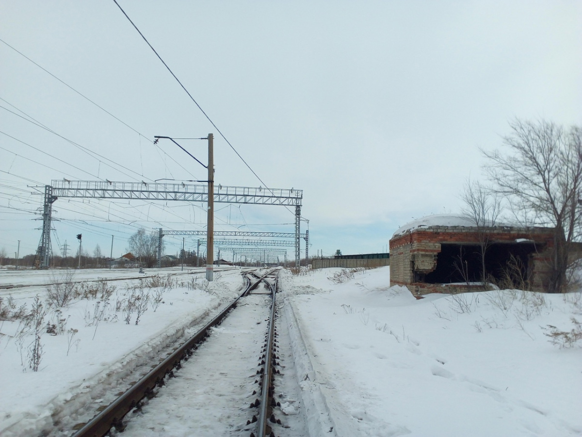 Челябинск. Станция Кирзавод, стрелочный перевод № 8