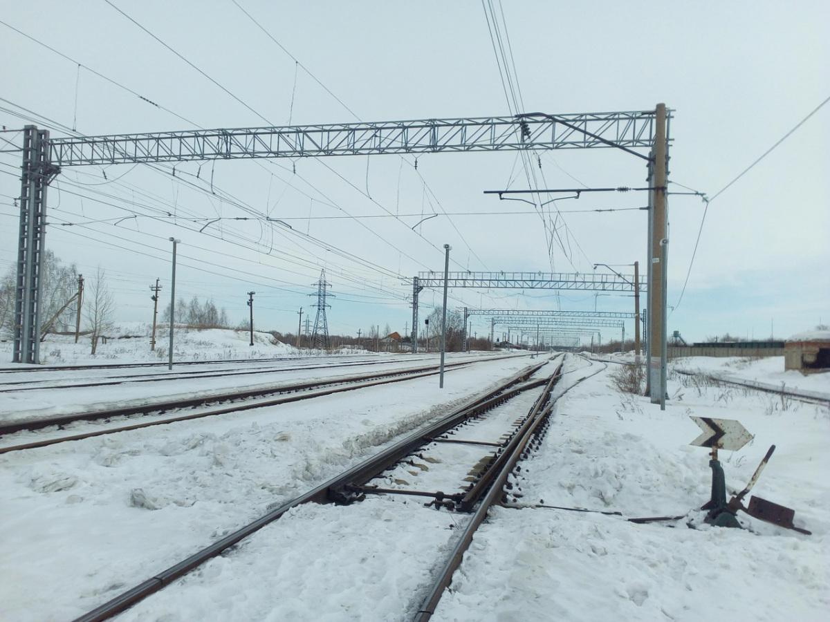 Челябинск. Станция Кирзавод, стрелочный перевод № 24