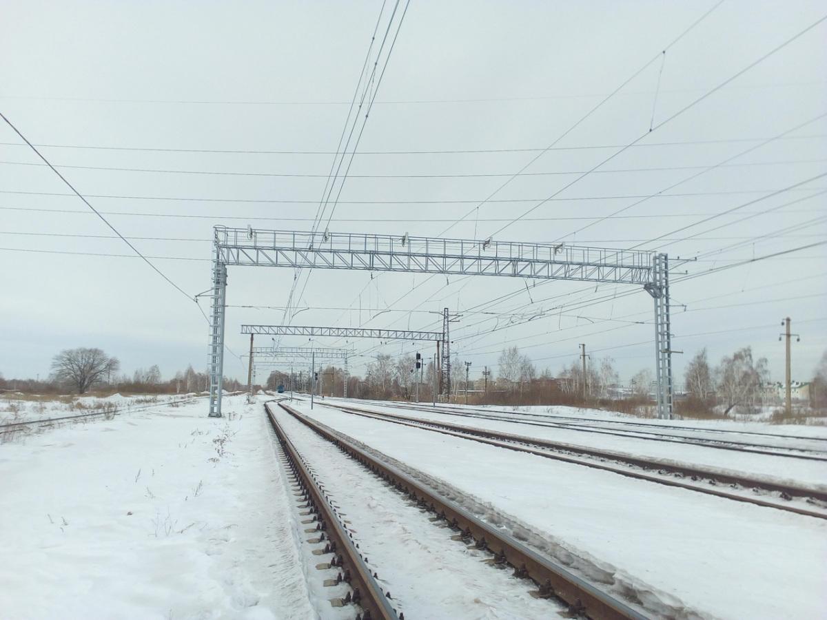 Челябинск. Станция Кирзавод, вид в сторону поста Восточный, кузнечно-прессового завода и ТЭЦ-1