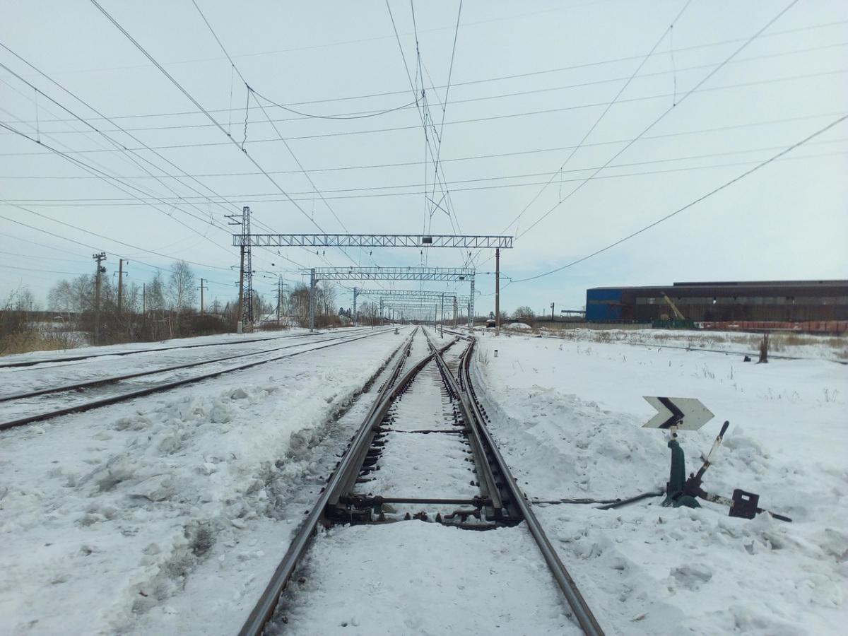 Челябинск. Станция Кирзавод, стрелочный перевод № 18