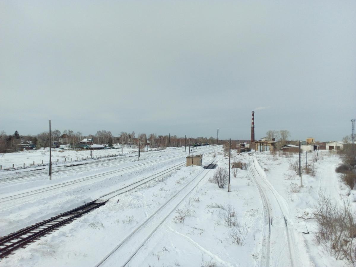 Челябинск. Копейск, станция Камышное Коркинского погрузочно-транспортного управления