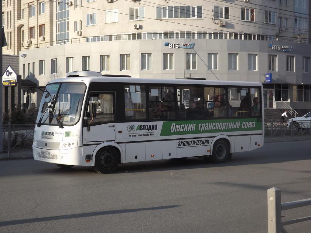Омск. ПАЗ-320412-14 Вектор у077ет