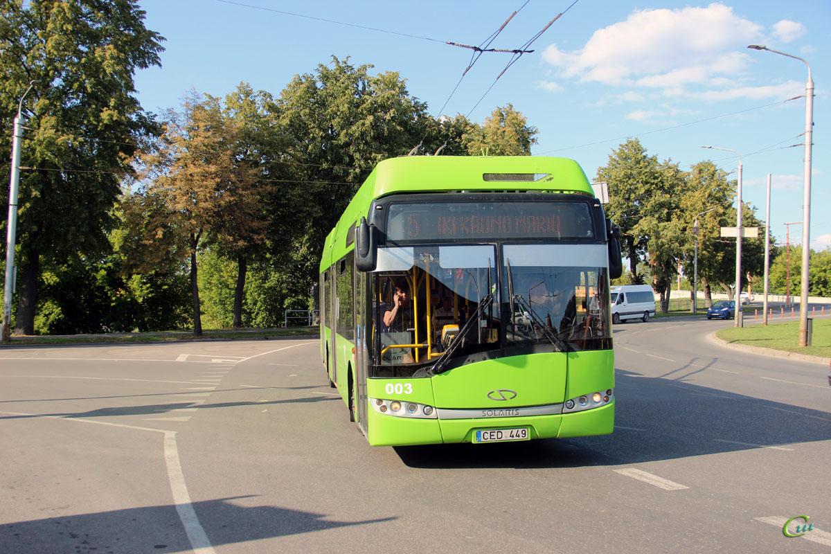 Каунас. Solaris Trollino 12 AC №003