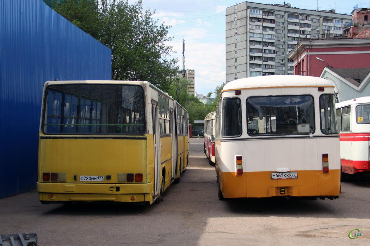 Москва. Ikarus 280.33 с720мм, ЛиАЗ-677МБ м461кх