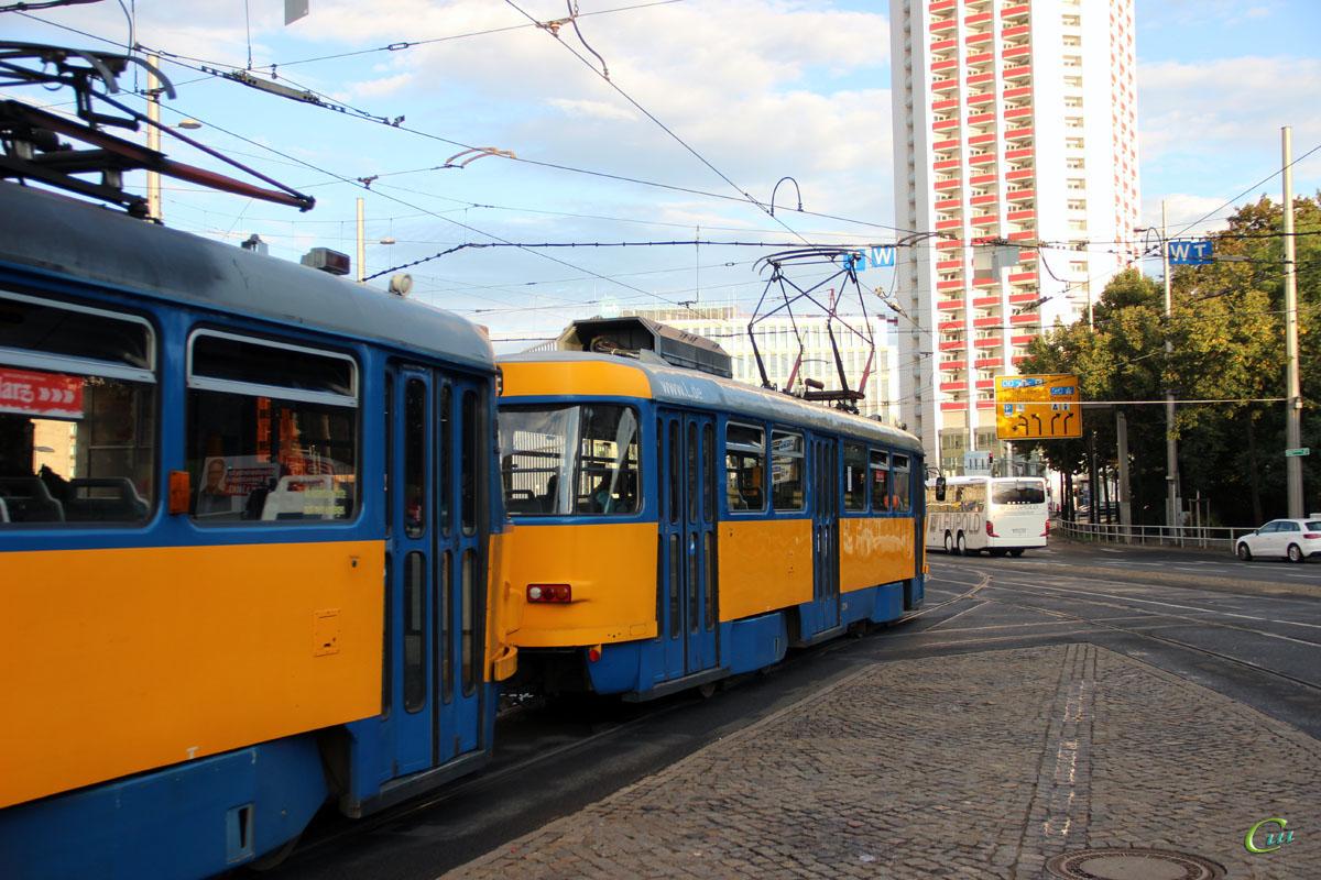 Лейпциг. Tatra T4D-M1 №2114, Tatra T4D-M1 №2180