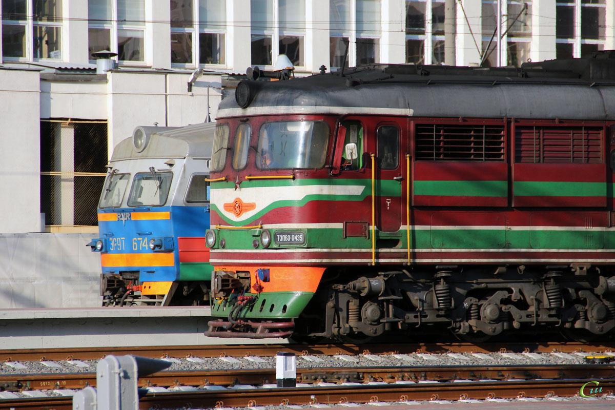 Минск. ЭР9Т-674, ТЭП60-0435