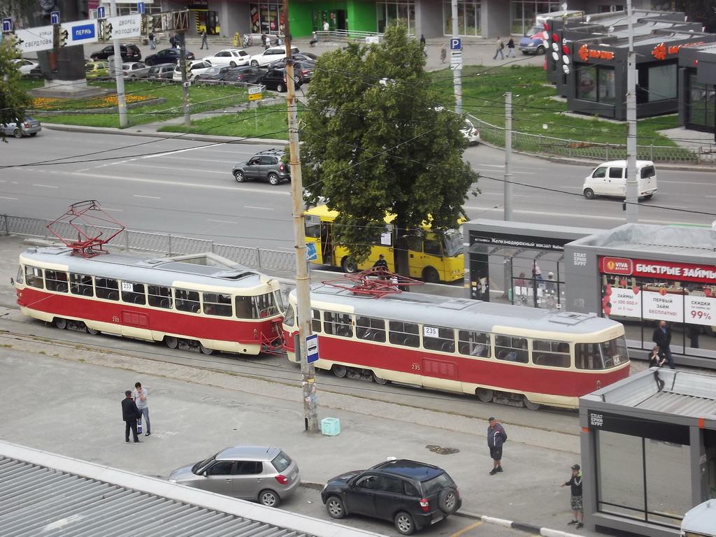 Екатеринбург. Tatra T3SU №233, Tatra T3SU №235
