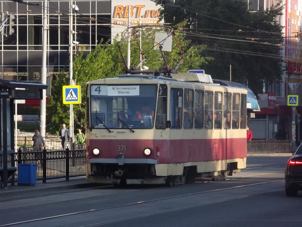 Екатеринбург. Tatra T6B5 (Tatra T3M) №371