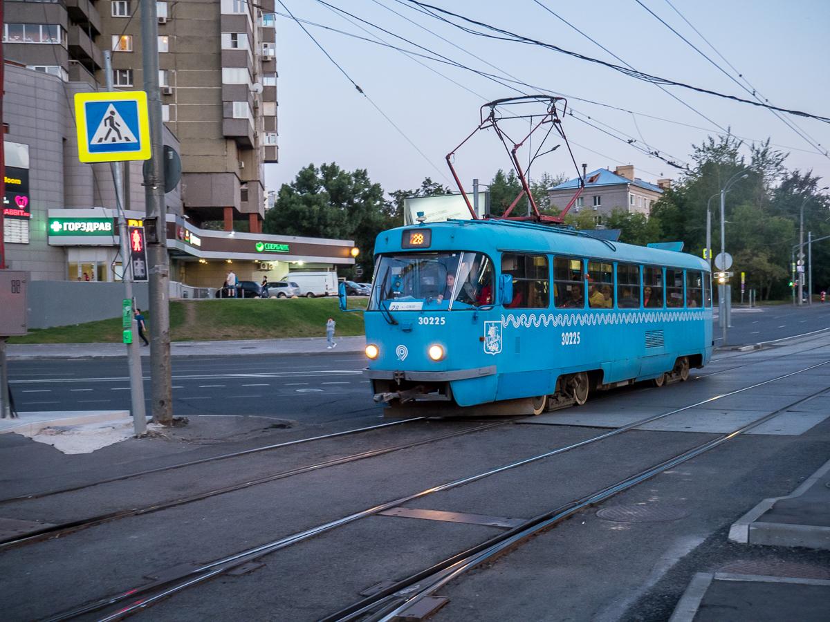Москва. Tatra T3 (МТТЧ) №30225
