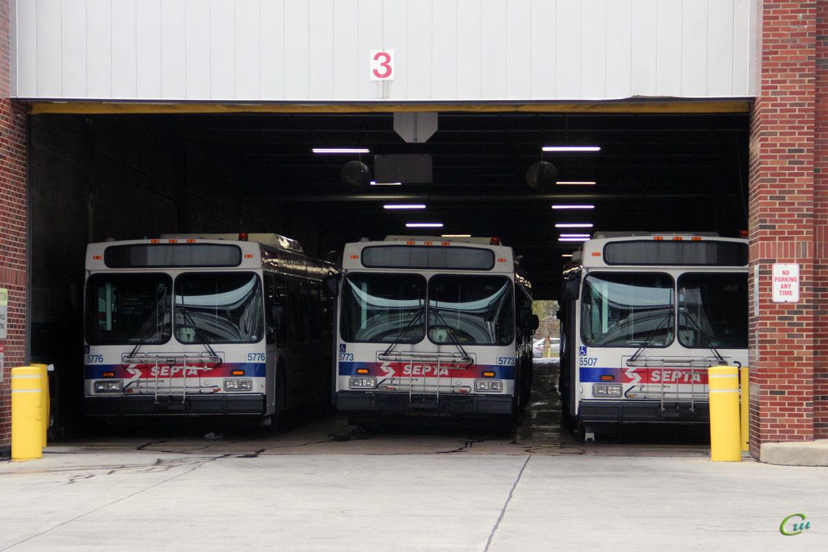 Филадельфия. New Flyer D40LF №5773, New Flyer D40LF №5776, New Flyer D40LF №5507