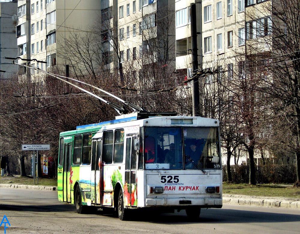 Львов. Škoda 14Tr02/6 №525