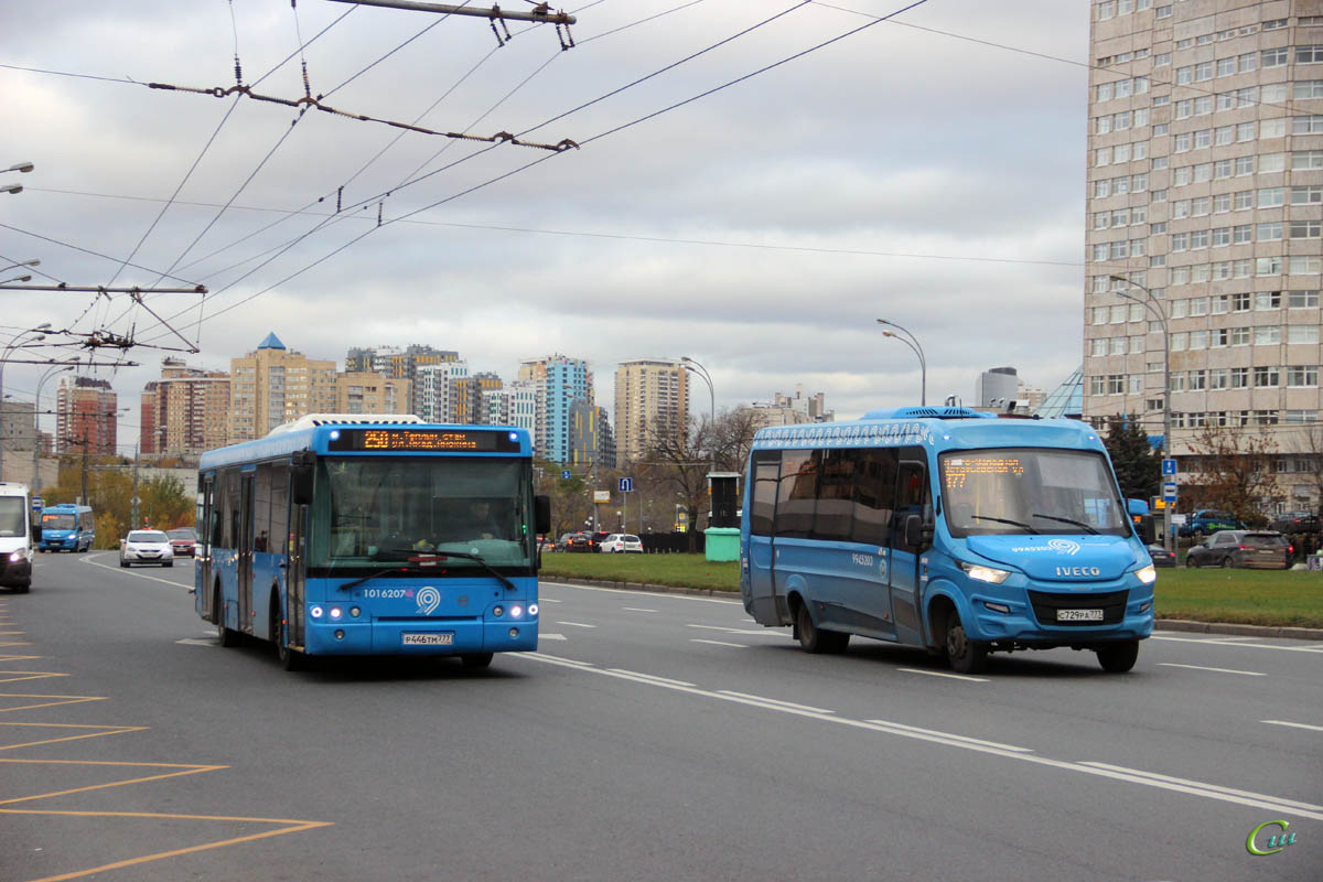 Москва. Нижегородец-VSN700 (IVECO Daily) с729ра, ЛиАЗ-5292.65 р446тм