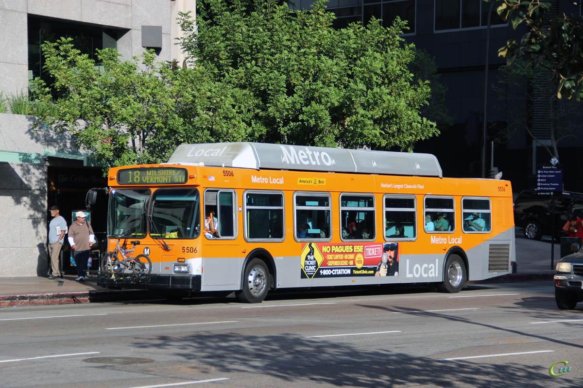 Лос-Анджелес. New Flyer C40LF №5506