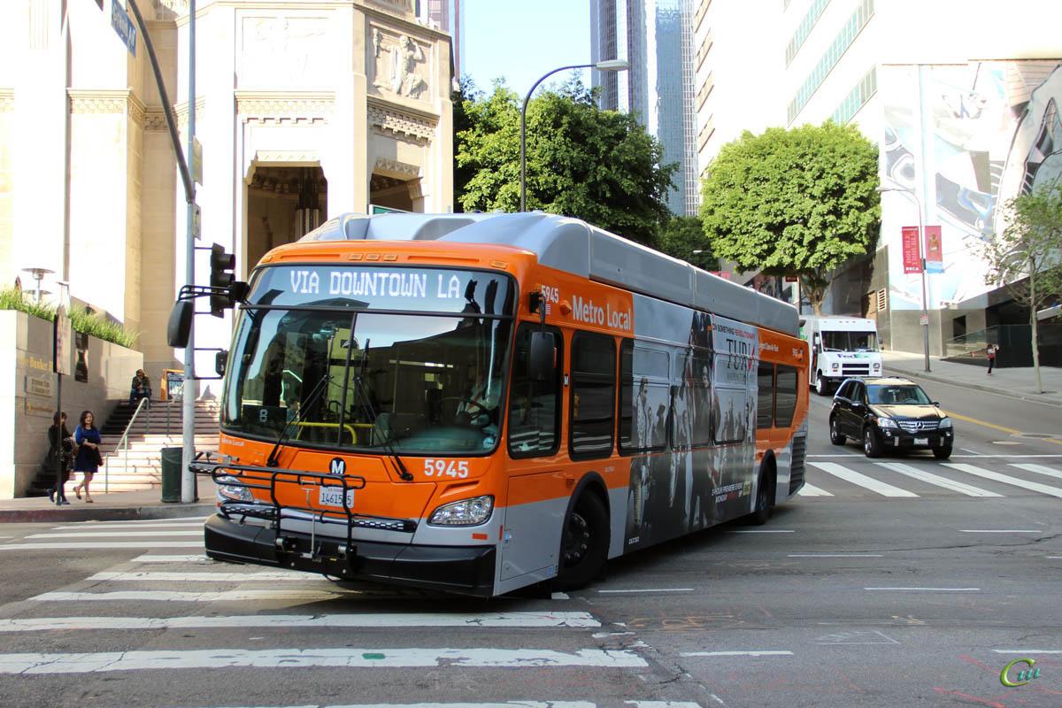 Лос-Анджелес. New Flyer XN40 1461505