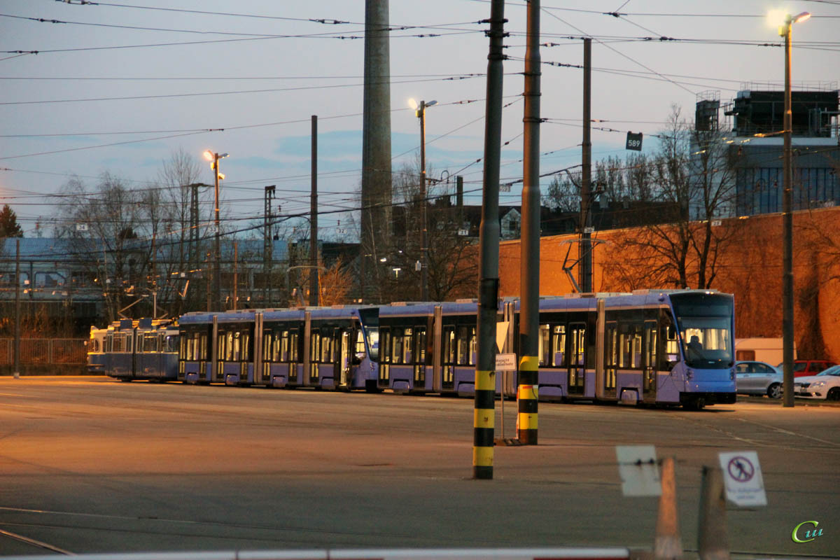 Мюнхен. Новые трамваи Siemens Avenio
