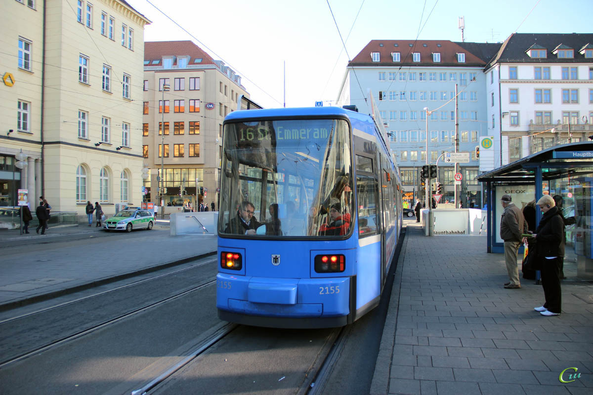 Мюнхен. Adtranz R2.2 №2155