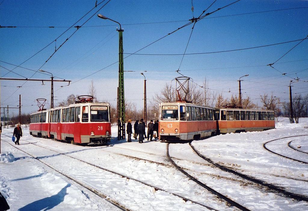 Старый Оскол. 71-605 (КТМ-5) №40, 71-605 (КТМ-5) №28, 71-605 (КТМ-5) №61, 71-605 (КТМ-5) №63