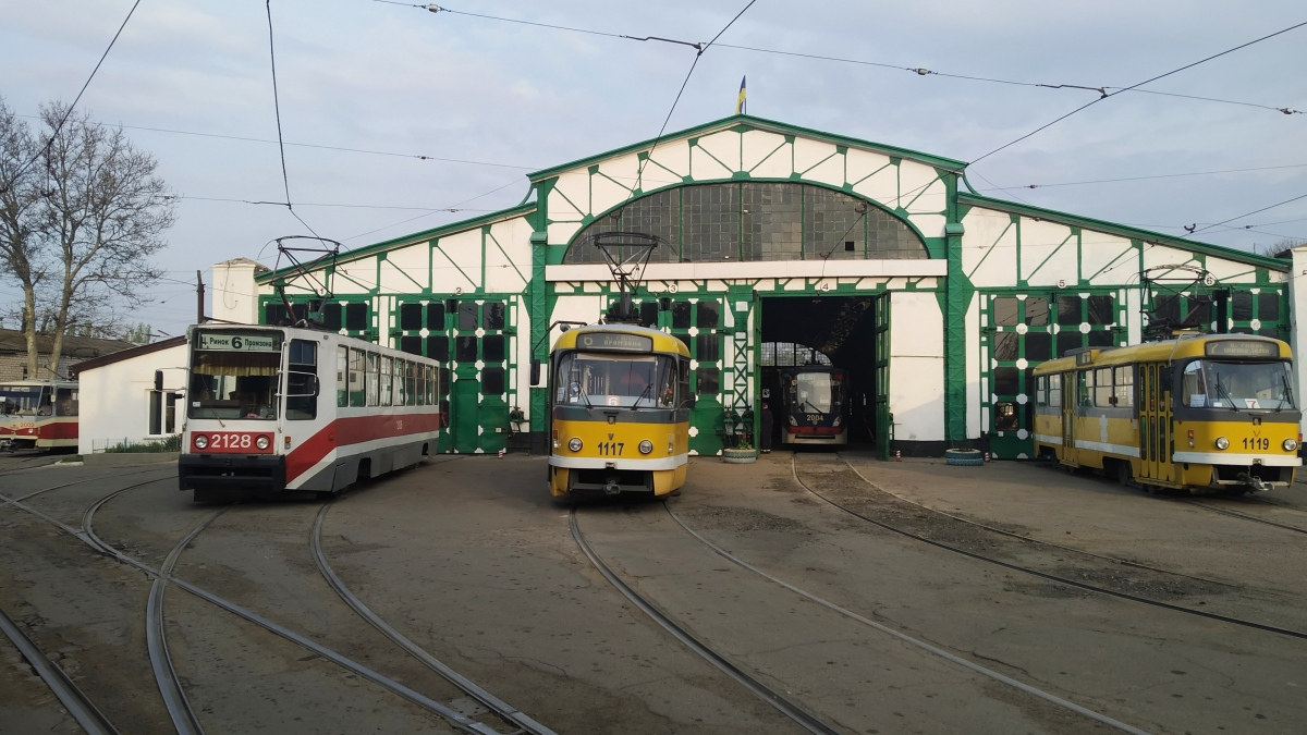 Николаев. 71-608К (КТМ-8) №2128, Tatra T3M.03 №1117, Tatra T3M.03 №1119