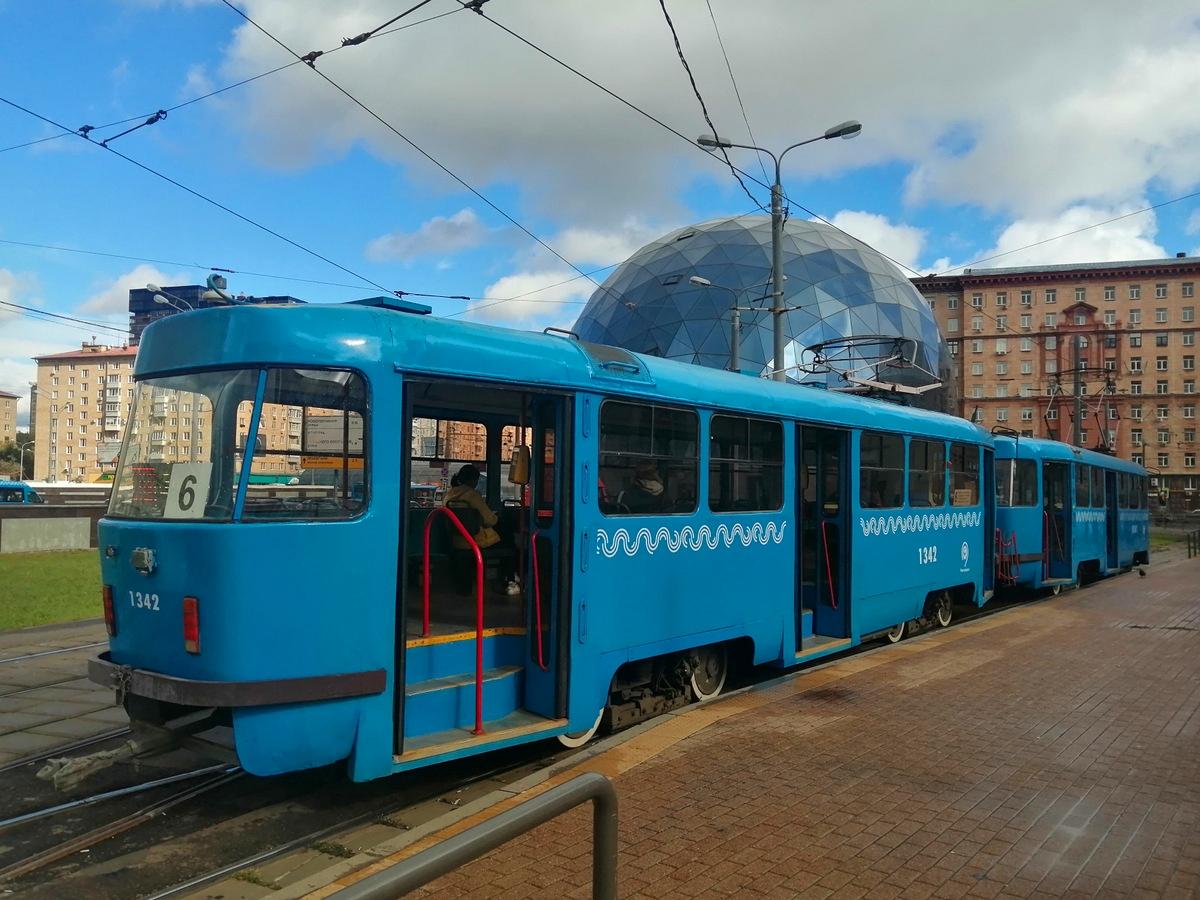 Москва. Tatra T3 (МТТЧ) №1342