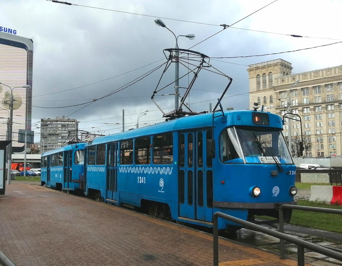 Москва. Tatra T3 (МТТЧ) №1341
