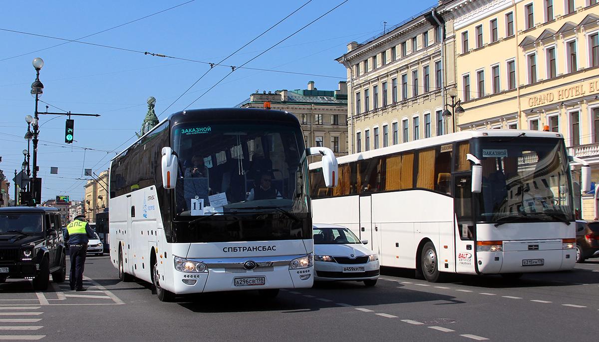 Санкт-Петербург. Van Hool T915 Acron е315ун, Yutong ZK6122H9 а296св